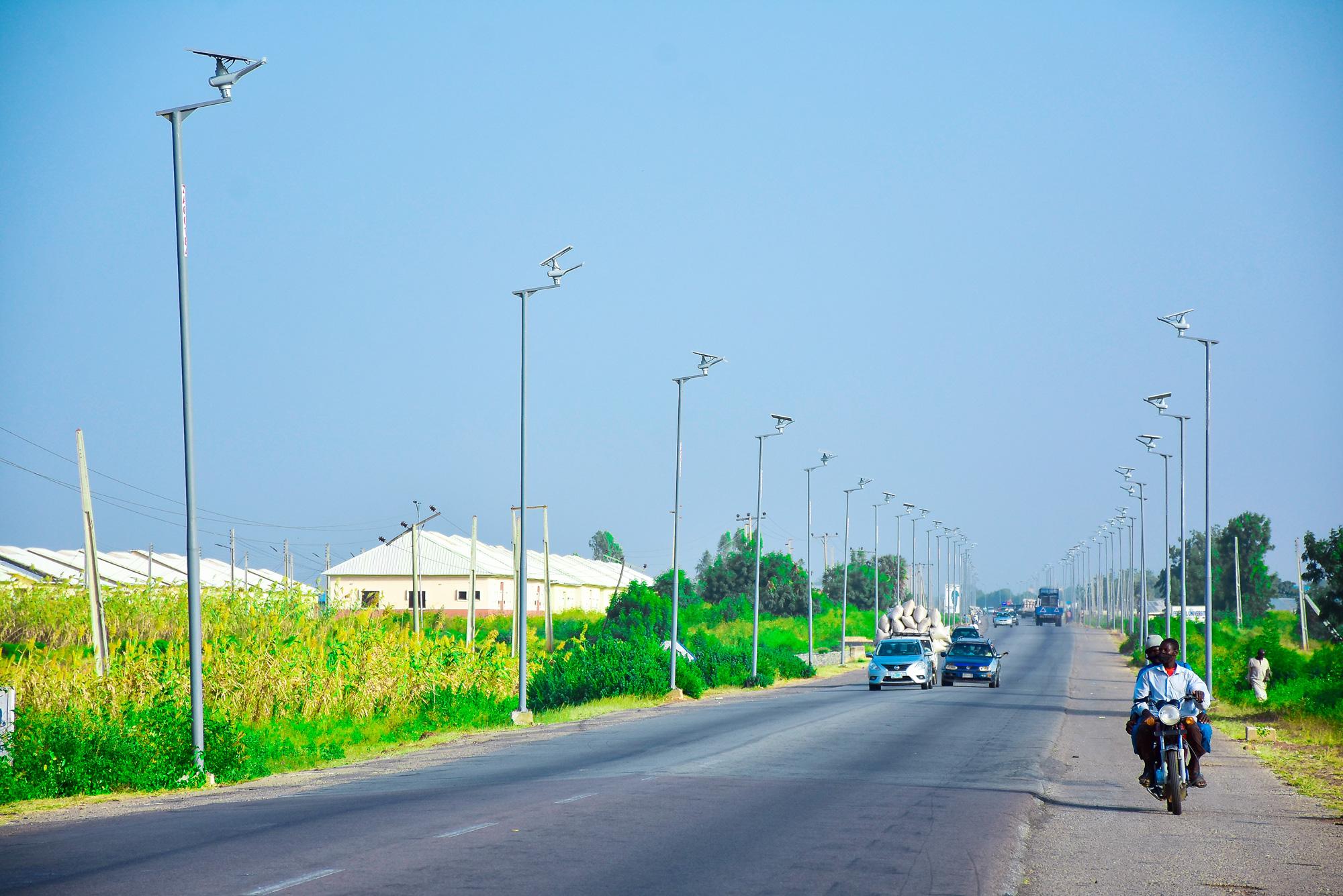 Solar street lights in Gusau Nigeria